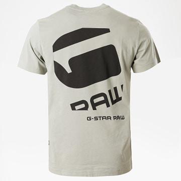 G-Star - Tee Shirt Big Logo Back D17142 Vert Clair