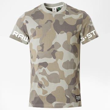 G-Star - Tee Shirt Camouflage D17148 Vert Kaki