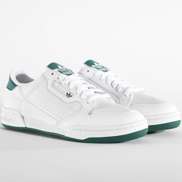 Adidas Originals - Baskets Continental 80 EF5995 Footwear White Grey One Collegiate Green