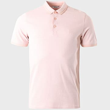 Only And Sons - Polo Manches Courtes Stan Life Rose Chiné