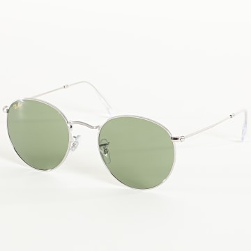 Ray-Ban - Lunettes De Soleil Round Metal 0RB3447 Vert Olive