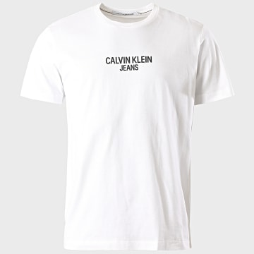 Calvin Klein - Tee Shirt Back Institutional 5728 Blanc