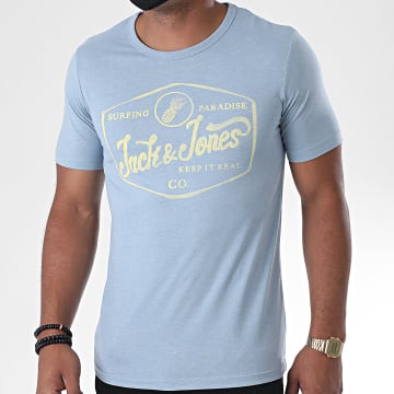 Jack And Jones - Tee Shirt Namen 12171985 Bleu Chiné
