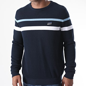 Jack And Jones - Pull Sports 12171326 Bleu Marine