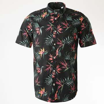 Only And Sons - Chemise Manches Courtes Floral Alfi Noir