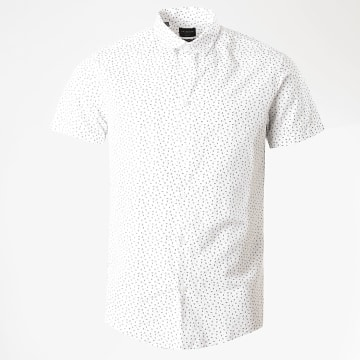 Selected - Chemise Manches Courtes Slim Linen Blanc