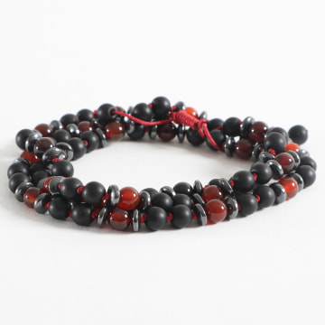 Black Needle - Bracelet BBC-181 Noir Rouge