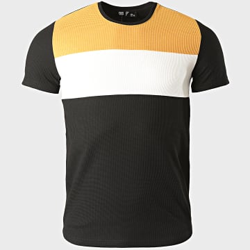 Classic Series - Tee Shirt 2207 Noir Blanc Jaune Moutarde