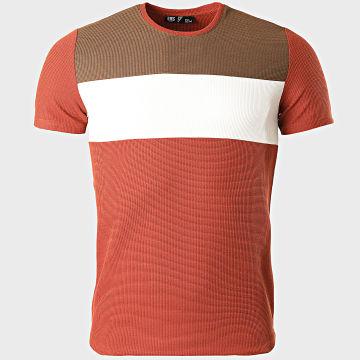 Classic Series - Tee Shirt 2207 Rouge Brique Blanc Marron