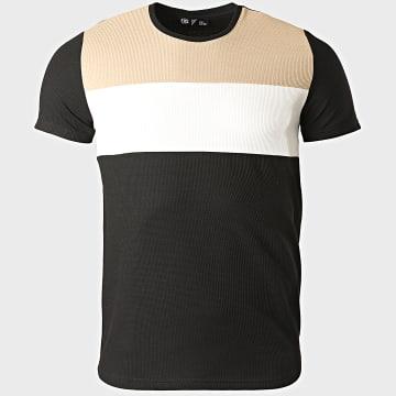 Classic Series - Tee Shirt 2207 Noir Blanc Beige