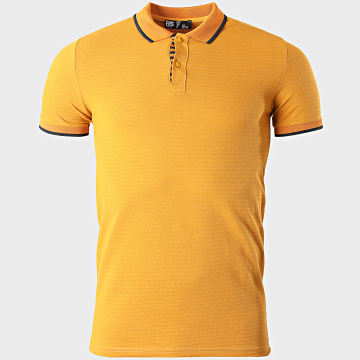 Classic Series - Polo Manches Courtes A Rayures 2182 Jaune Moutarde