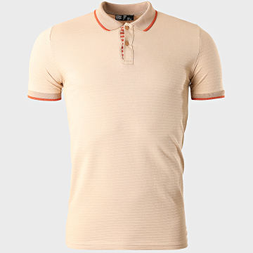 Classic Series - Polo Manches Courtes A Rayures 2182 Beige
