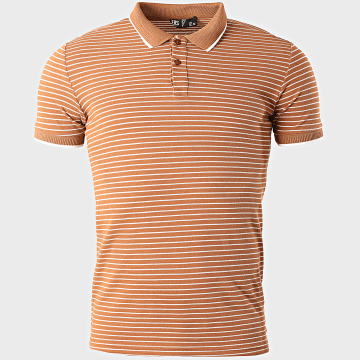 Classic Series - Polo Manches Courtes A Rayures 2205 Camel