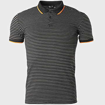 Classic Series - Polo Manches Courtes A Rayures 2205 Noir