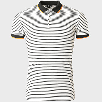 Classic Series - Polo Manches Courtes A Rayures 2205 Blanc