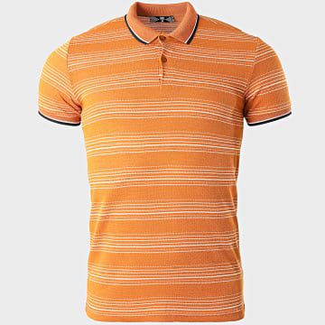 Classic Series - Polo Manches Courtes A Rayures 2217 Orange