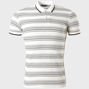 Classic Series - Polo Manches Courtes A Rayures 2217 Blanc