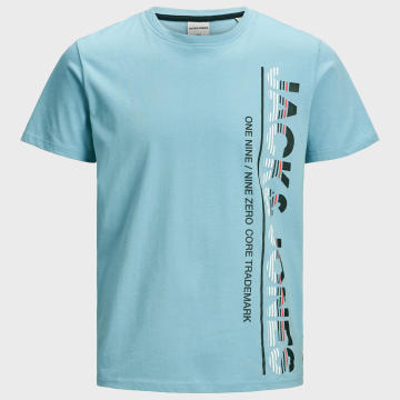 Jack And Jones - Tee Shirt Structure 12171365 Bleu Ciel