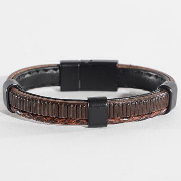 Black Needle - Bracelet BBN-168 Marron