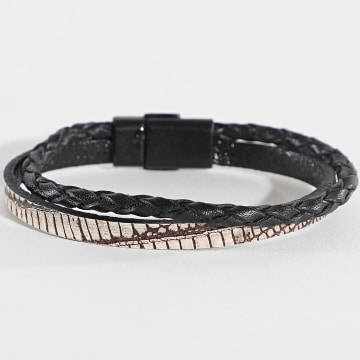 Black Needle - Bracelet BBN-174 Noir Beige