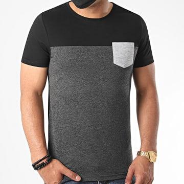 LBO - Tee Shirt Poche 1149 Noir Anthracite