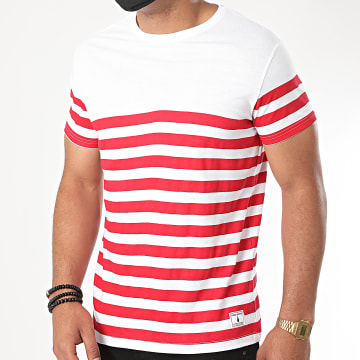 Paname Brothers - Tee Shirt A Rayures Typy Blanc Rouge