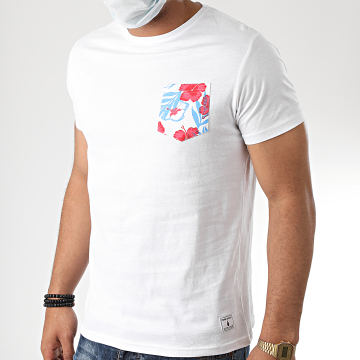 Paname Brothers - Tee Shirt Poche Floral Tazia Blanc