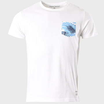 Paname Brothers - Tee Shirt Poche Floral Taly Blanc