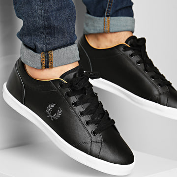Fred Perry - Baskets Baseline Leather B6158 Noir