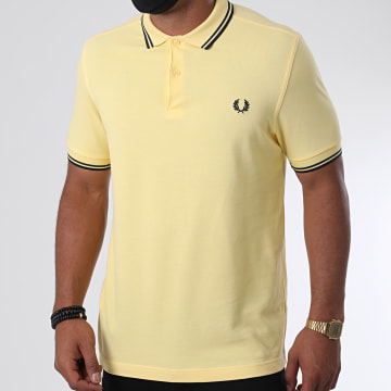 Fred Perry - Polo Manches Courtes Twin Tipped M3600 Jaune