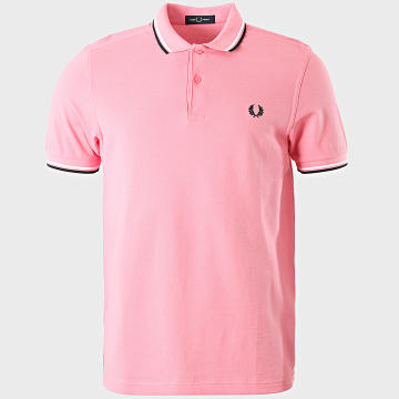 Fred Perry - Polo Manches Courtes Twin Tipped M3600 Rose