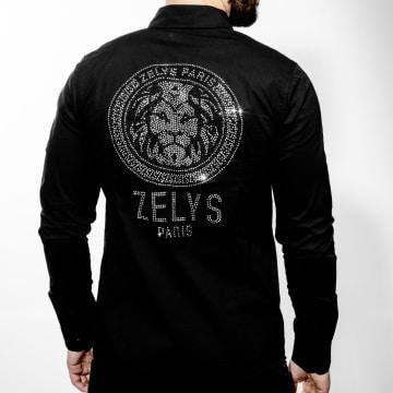 Zelys Paris - Chemise Manches Longues A Strass Aross Noir