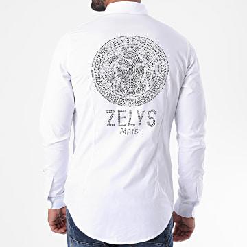 Zelys Paris - Chemise Manches Longues A Strass Aross Blanc