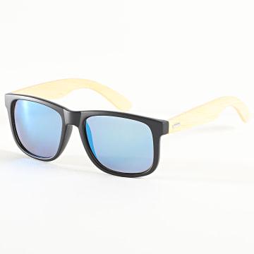 Classic Series - Lunettes De Soleil 025957 Noir Beige Bleu