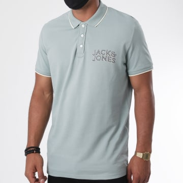 Jack And Jones - Polo Manches Courtes Venice Beach Organic 12171749 Vert