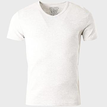 La Maison Blaggio - Tee Shirt Col V Land Gris Chiné