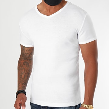 La Maison Blaggio - Tee Shirt Col V Landa Blanc