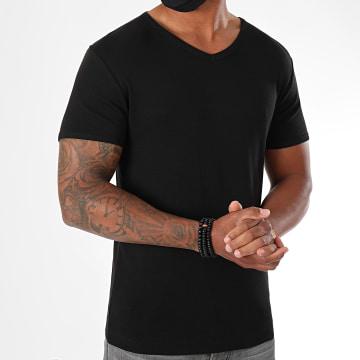 La Maison Blaggio - Tee Shirt Col V Landa Noir