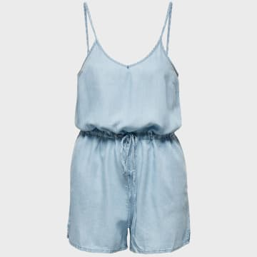 Only - Combinaison Short Femme Mikka Life 15203519 Bleu Clair