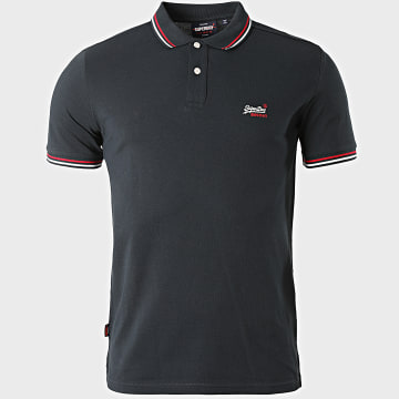 Superdry - Polo Manches Courtes Classic Micro Lite Tipped M1110012A Bleu Marine