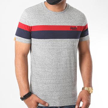 Superdry - Tee Shirt OL Classic YD Stripe M1010139A Gris Chiné