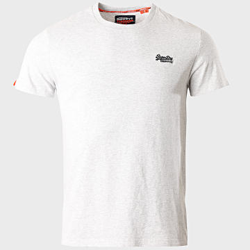 Superdry - Tee Shirt OL Vintage Embroidery M1010024A Gris Chiné
