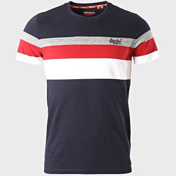 Superdry - Tee Shirt OL Classic YD Stripe M1010139A Bleu Marine