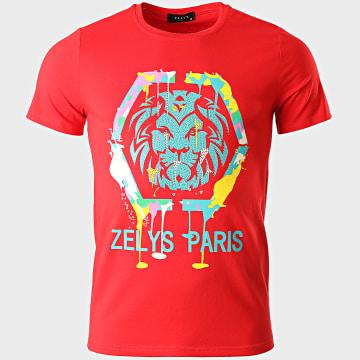 Zelys Paris - Tee Shirt A Strass Octo Rouge