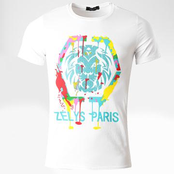 Zelys Paris - Tee Shirt A Strass Octo Blanc