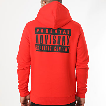 Parental Advisory - Sweat Capuche Back Logo Rouge