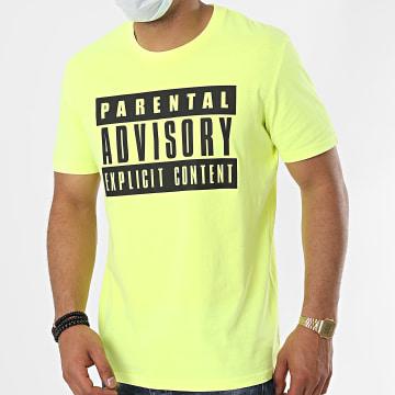 Parental Advisory - Tee Shirt Logo Jaune Fluo