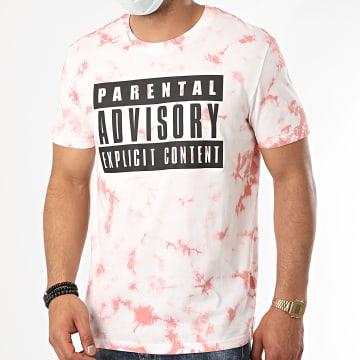 Parental Advisory - Tee Shirt Logo Rose Délavé