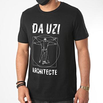 Da Uzi - Tee Shirt Big Logo Architecte Noir