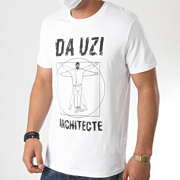 Da Uzi - Tee Shirt Big Logo Architecte Blanc